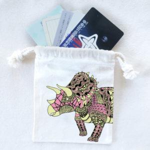 恐竜巾着袋 トリケラトプス